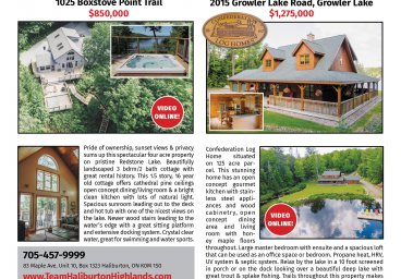 Haliburton Real Estate For Sale AUGUST 2017 Issue thumbnail